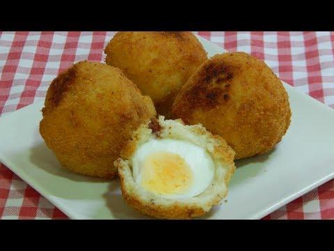 Cómo hacer huevos con bechamel empanados (Los Deliciosos Huevos Villaroy)