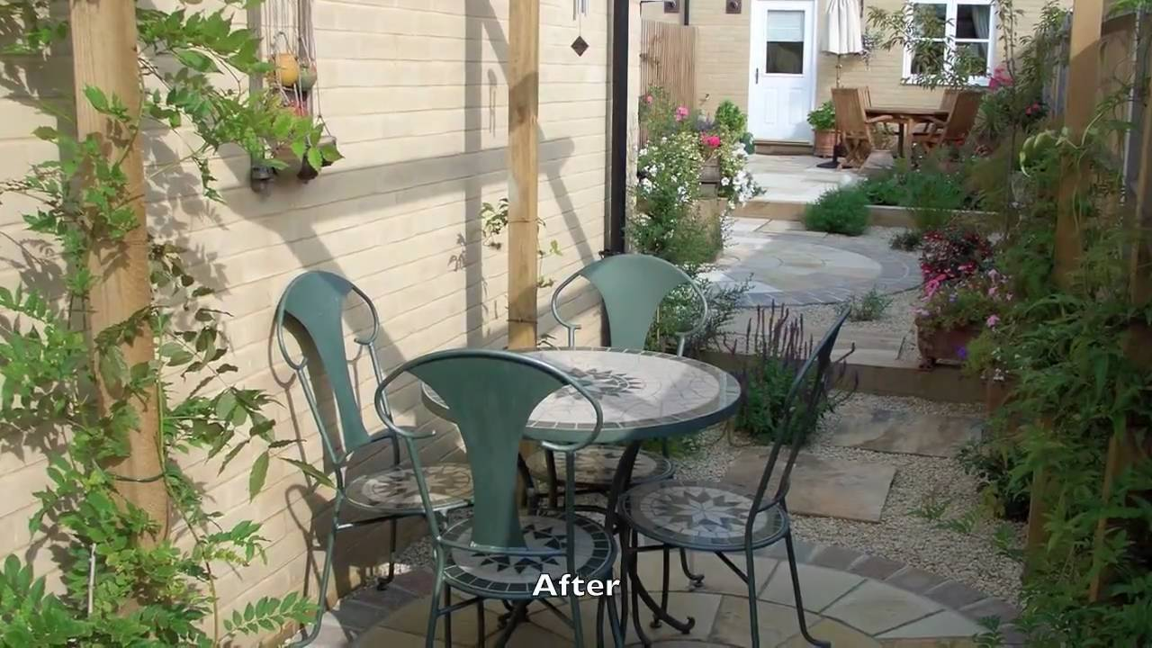 Small Garden & Medium Sized Garden Ideas Pictures Gallery - YouTube