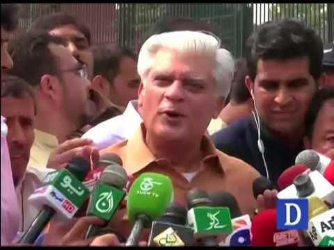 Asif Kirmani media talk outside Punjab House