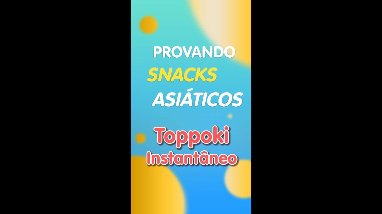 PROVANDO TOPPOKKI INSTANTÂNEOS! #shorts