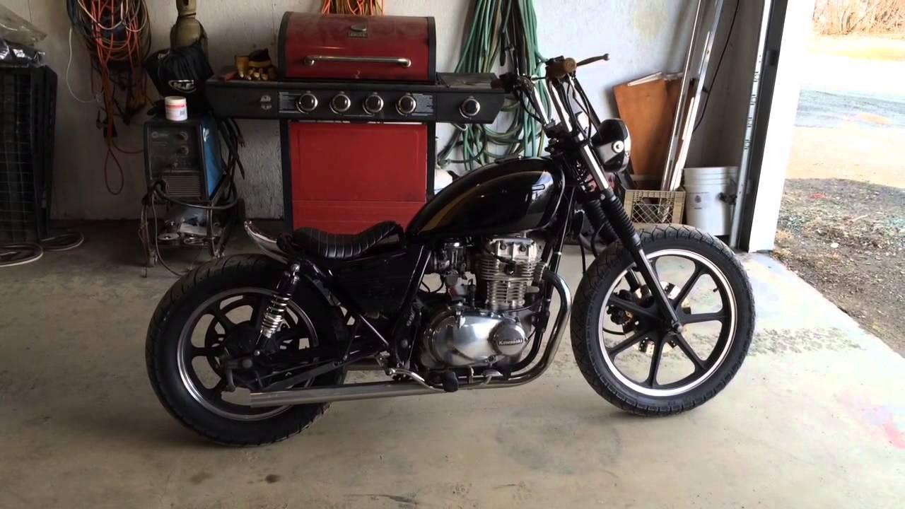 83 Kawasaki Bobber 440 LTD - YouTube