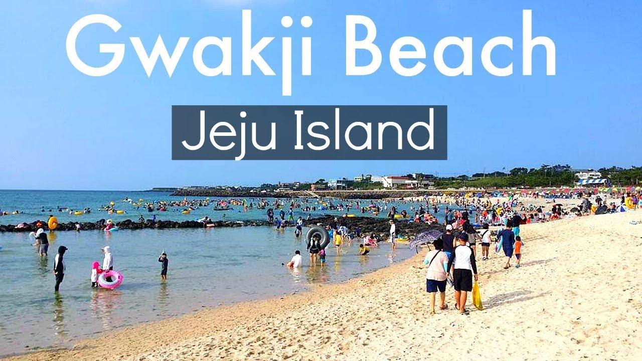 Jeju Island Korea Gwakji Beach 애월 곽지과물해변