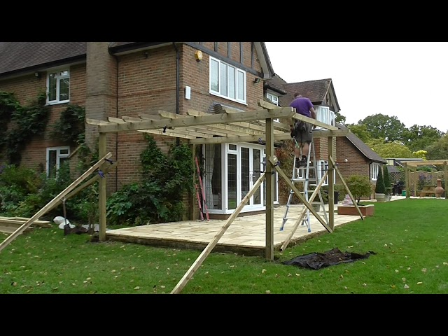 Constuction of Pergola with Handrails and Arbor Entrance