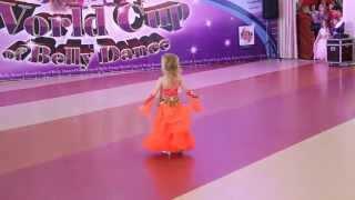 Восточные танцы, дети,  основная часть, Ксения Дворецкая, 5 лет, дебют