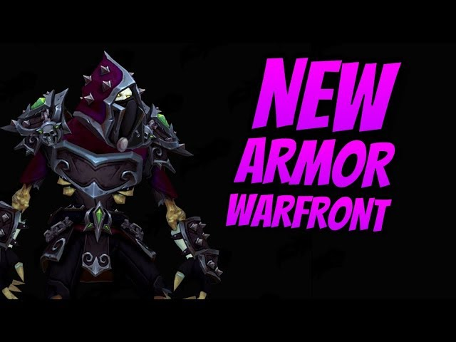 NEW Warfront Horde Leather Armor | Patch 8.1.0 | Battle for Darkshore | Battle for Azeroth