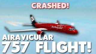 Crashed! Vol AirAvicular 757! Roblox