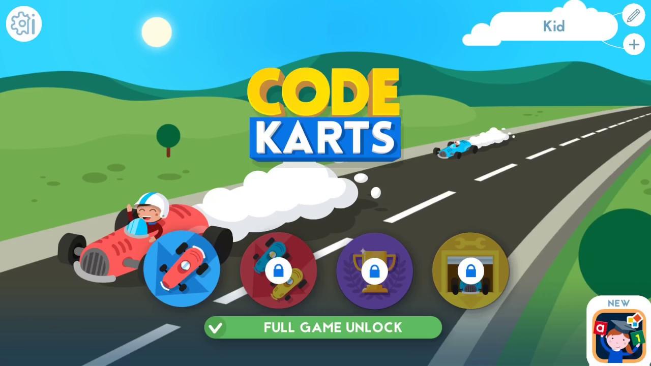 Code Karts - Game codes for Kids - Free Online - Kids Games