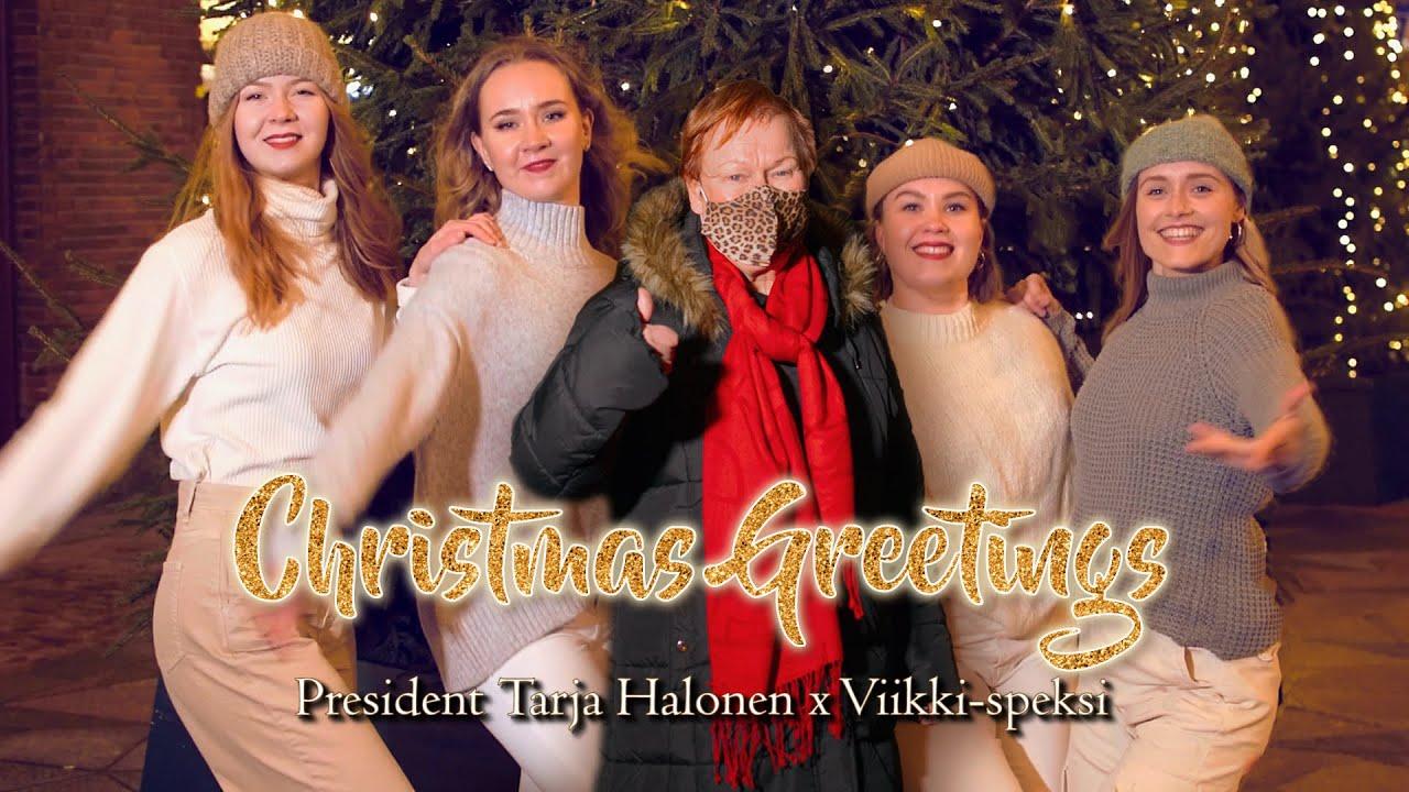 President Tarja Halonen Christmas Greetings ft. Viikki-speksi
