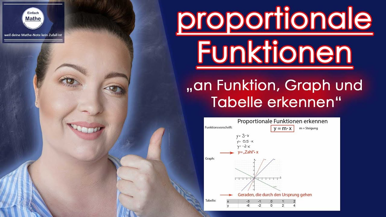 proportionale funktionen an funktion graph und tabelle erkennen by einfach mathe youtube. Black Bedroom Furniture Sets. Home Design Ideas