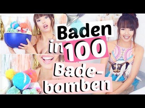 ICH BADE IN 100 BADEBOMBEN!! 😱🚿 Lush Badekugeln | ViktoriaSarina