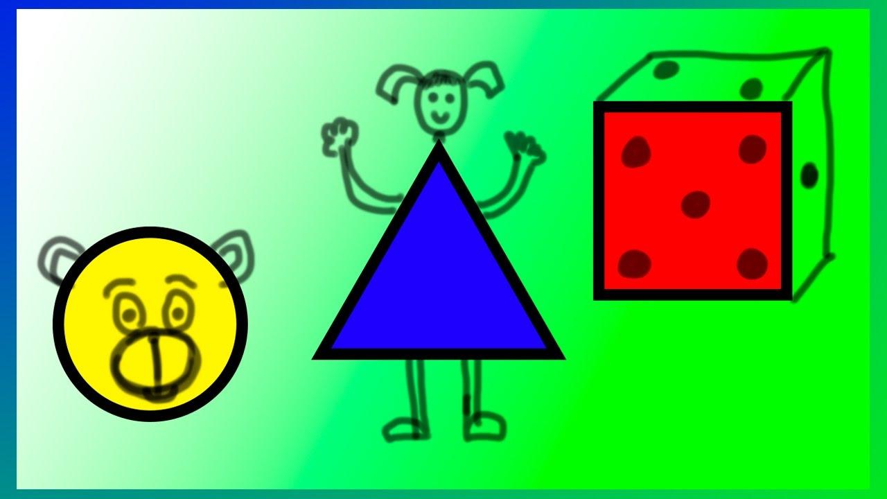 Formas geom tricas dibujos a partir de figuras for Las formas geometricas