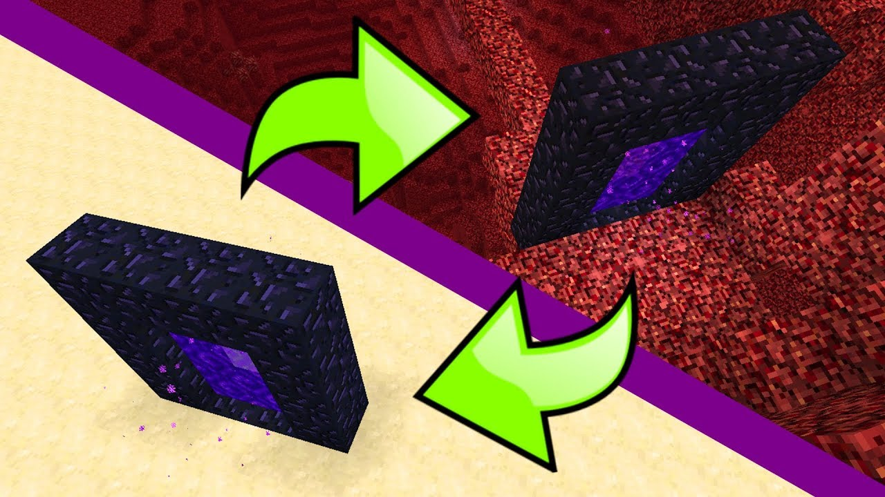 How To Link Nether Portals In Minecraft Youtube