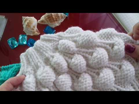 Вязание спицами узор малинка