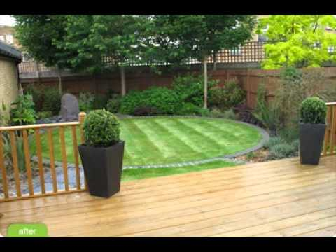 Diy decorating ideas for small garden patio youtube for Garden renovation on a budget