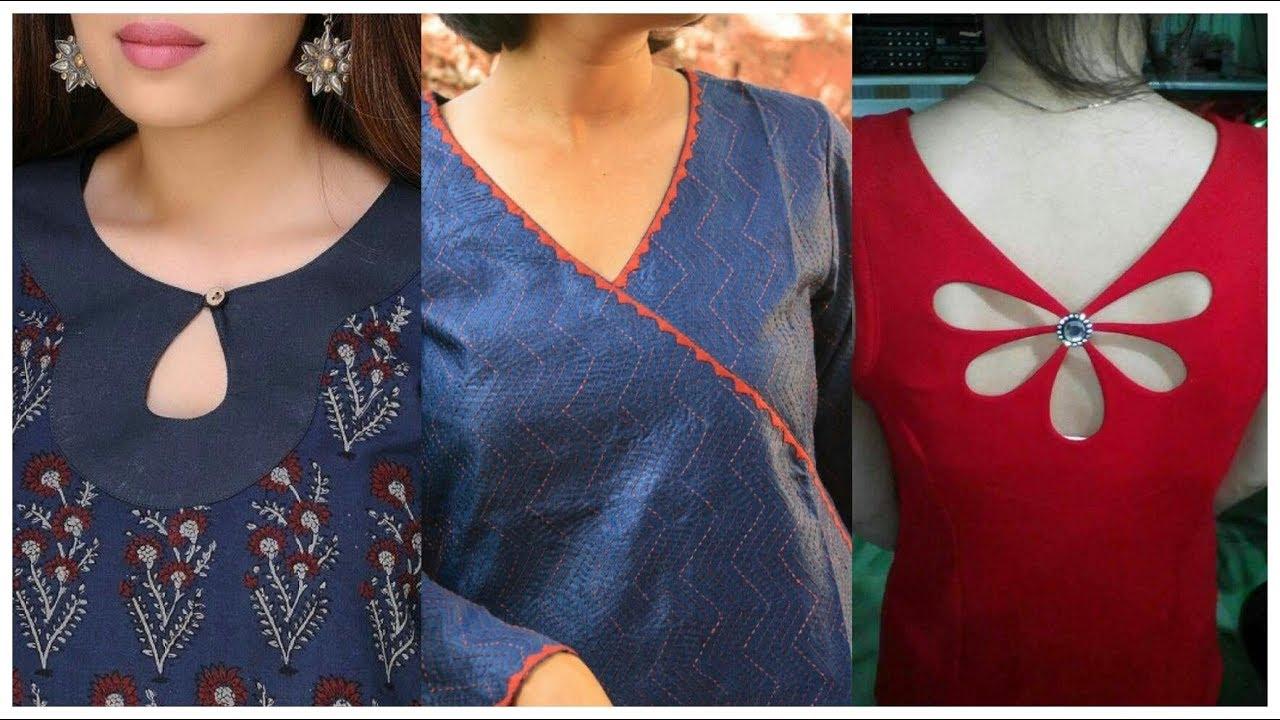 Back images suit ladies neck design 70 Latest