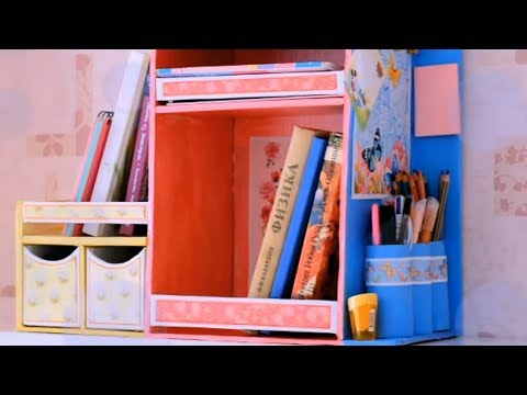 DIY ORGANIZER from cardboard with drawers
