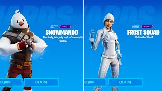How to unlock Snowmando Skin & Frost Squad Skin in Fortnite | Complete Operation Snowdown Challenges