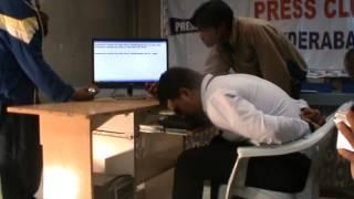 World's fastest nose typist Mohammed Khursheed Hussain.