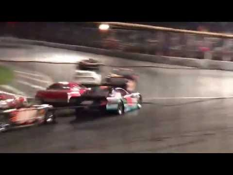 Mahoning valley speedway Octoberfast 2016. Start of the late model feature