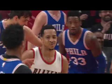 CJ McCollum Showing Off His Moves | Sixers vs Blazers | 3.9.17 | 16-17 NBA Season