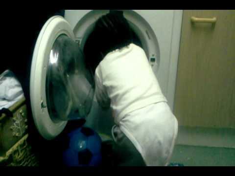 Baby in washing machine 2