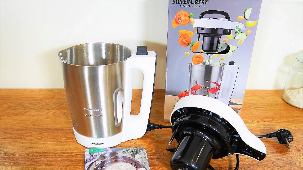 test cook n mix silvercrest lidl cuiseur mixeur soupes smoothies compotes