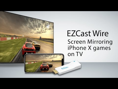 How to screen mirror iPhone X gaming with EZCast Wire (2018)