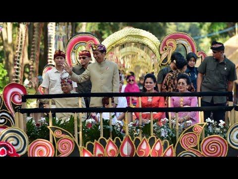 Presiden Jokowi Membuka Dan Melepas Pawai Pesta Kesenian Bali Ke-41, Denpasar, 15 Juni 2019