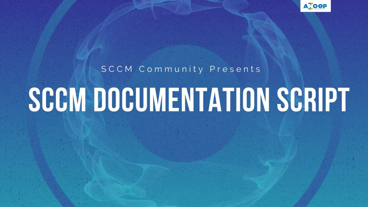How to Make SCCM Documentation with Automatic Script - How to document SCCM  Settings