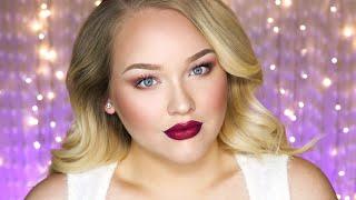 soft glam holiday makeup tutorial  nikkietutorials