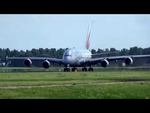 A380 Emirates op weg naar Dubai