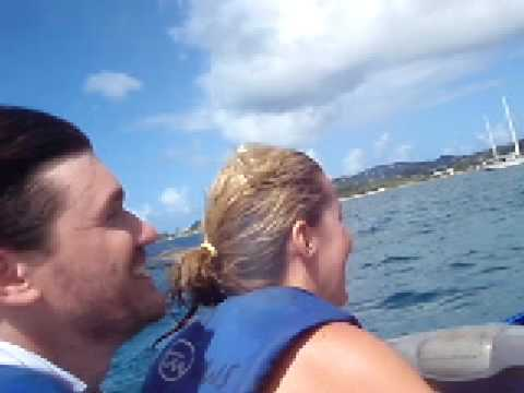 Jet skiing in St. Lucia