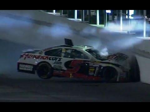 Kasey Kahne crashes into the wall | Coke Zero 400, Daytona 2013