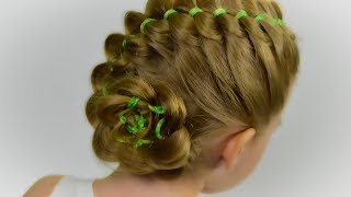 4 Strand Ribbon Braid. Hairstyles with Ribbon for Little Girl