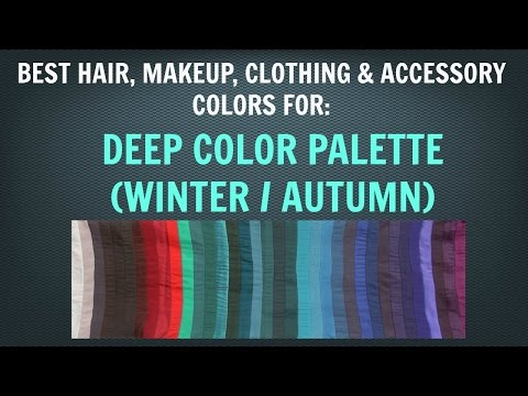 Deep Winter & Deep Autumn Color Palette: Neutral Skin Tone Makeup and Hair Colors  Color Analysis