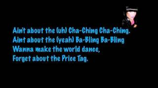 Price Tag - Jessie J Lyrics on screen