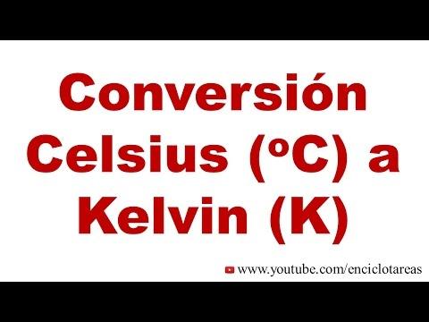 Convertir Celsius (C) a Kelvin (K)