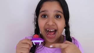 شفا تجربة حلويات غريبة  مصاصة الايسكريم !!