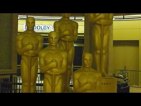 Preparationsfor the Oscars ceremony ★ Academy Awards 2013 in Hollywood, California