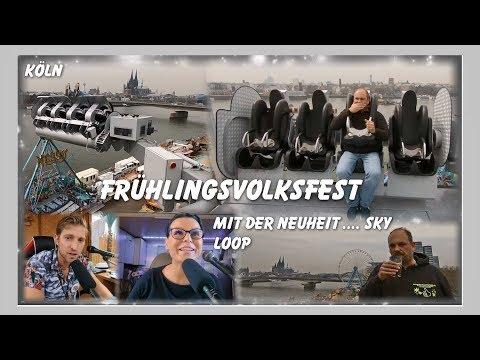 Kirmes in Deutz (Frühlingsvolksfest) Köln 2018 - Test Sky Loop - Blume