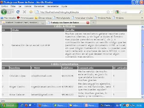 VideoTutorial 6 del Curso de PHP y MySQL