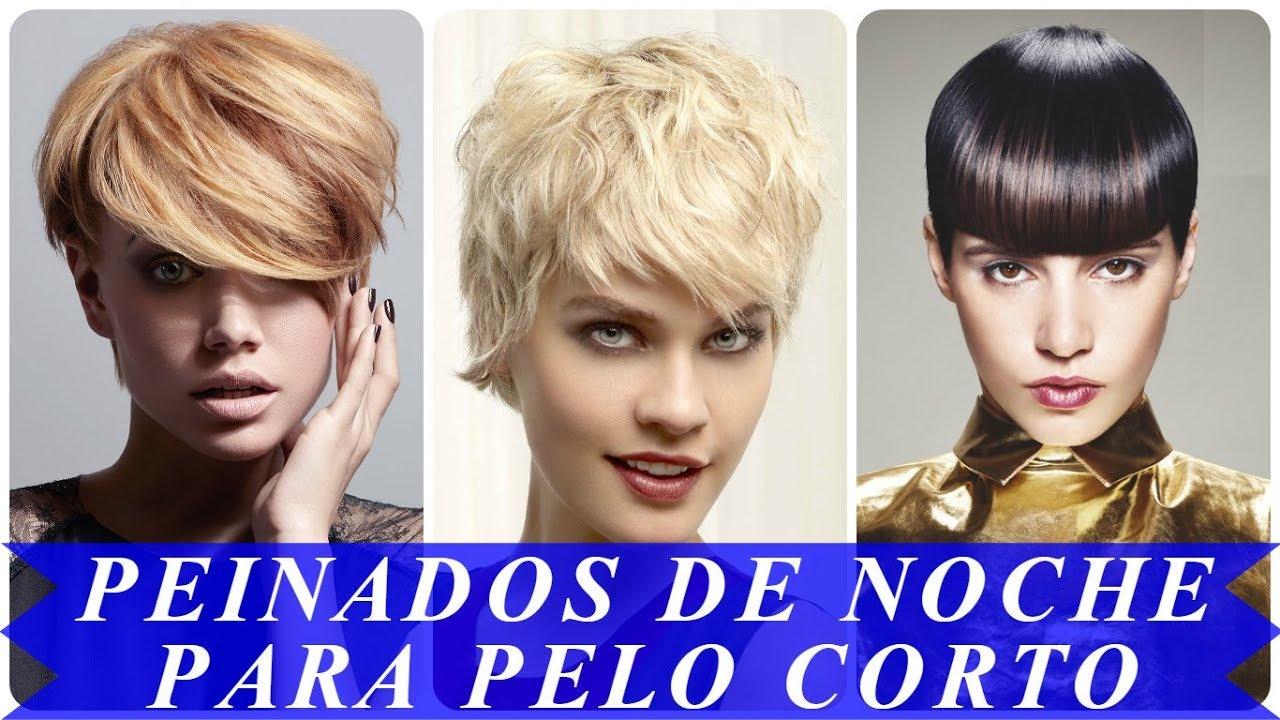Tendencia Peinados Para Pelo Corto Mujer Para Fiesta 2018 Youtube