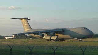 USAF C-5 Galaxy takeoff from Budapest