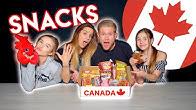 BRITISH FAMILY Trying CANADIAN SNACKS