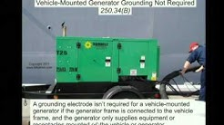 NEC 2011 Grounding Portable and Vehicle-Mounted Generators 250.34 (2min:43sec)