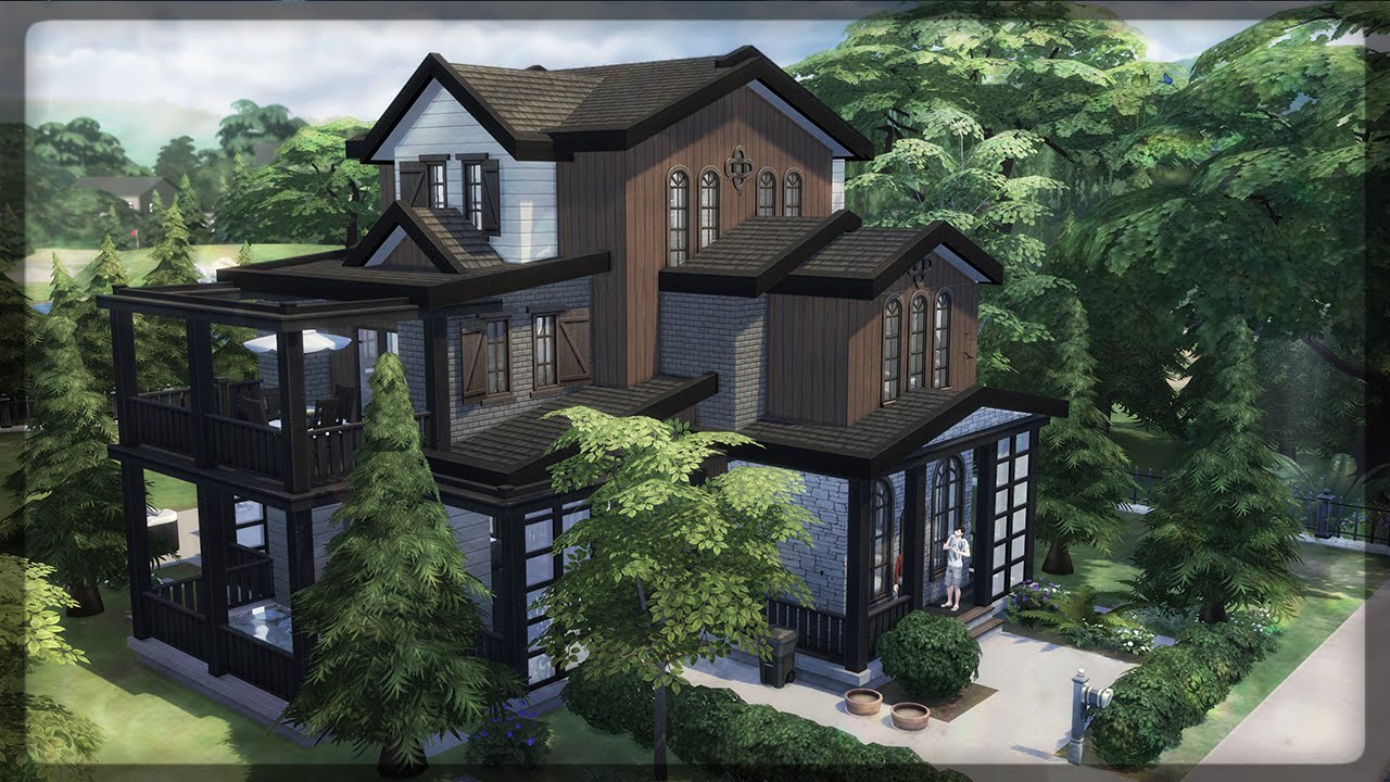 The sims 4 house building sofia 42 block party for Classic house sims 4