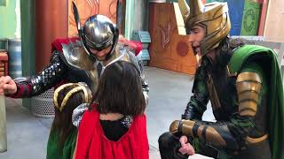 Little Thor and Little Loki visit Asgard at Disney California Adventure