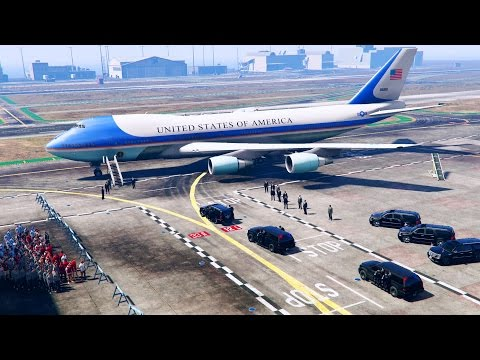 GTA 5 LSPDFR - Escorting President Donald Trump to Air Force One at Los Santos Intl (Secret Service)