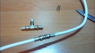 видео Как подключить антенный кабель