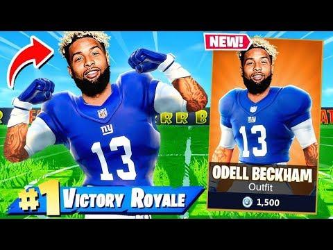 NFL Skin ODELL BECKHAM JR Challenge in Fortnite